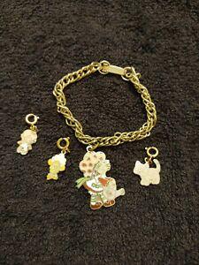 Vintage Strawberry Shortcake 1980 AGC Charm Bracelet Jewelry