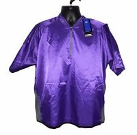 Mizuno Impermalite Short Sleeve Rain Top Shirt Size Small Purple Golf New w Tags