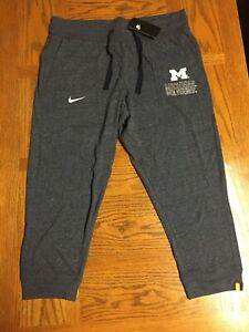 W/TAGS Nike Jumpman Michigan Wolverines MENS Jogger Workout Navy Pants Large