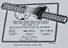 Flat-link 1960s watch bracelet compatible with Omega SM300 Speedmaster 4 sold
