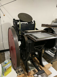 Chandler & Price 10x15 Platen Press with Motor and Boxcar