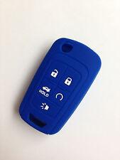 Blue Fob Remote Key Case Cover for Chevy Camaro Cruze Volt Spark Sonic Malidu