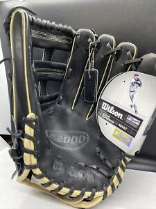 """2021 Wilson A2000 1799SS 12.75"""" SuperSkin Outfield Baseball Glove Black NEW MLB"""