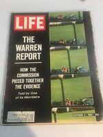Vintage Life Magazine October 2, 1964- The Warren Report, JFK Assassination