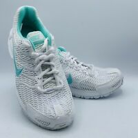 👟 Nike Air Max Torch 4 Womens Running Shoes 343851 100 White turquoise Size 9.5
