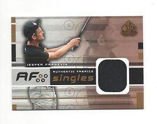 2003 SP GAME USED AUTHENTIC FABRICS JESPER PARNEVIK PLAYER-WORN SHIRT #AF-JP