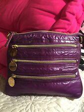 Beautiful Avon Purple/Goldtone Cosmetics Case/Purse/Many Pockets/Roomy!