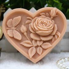 "/""Rose heart 2/"" plastic soap mold soap making mold mould"