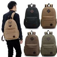 Men's Vintage Canvas Backpack Travel Sport Rucksack School Outdoor Hiking Bag UP