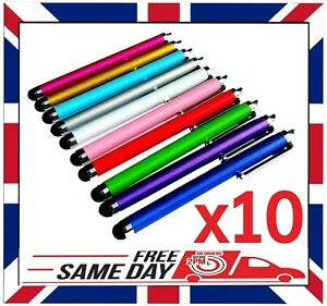 10 x QUALITY STYLUS PENS for TOUCH SCREEN IPAD SAMSUNG TABLET IPHONE HUAWEI ETC.