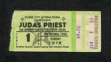 1980 Judas Priest Def Leppard concert ticket stub San Antonio British Steel Tour