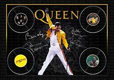 More details for queen - freddie mercury signed original a4 photo print memorabilia
