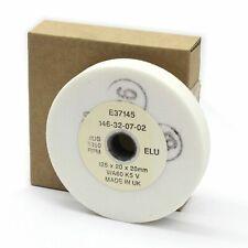 "Elu E37145 125mm (5"") x 20mm x 20mm White Bench Grinding Wheel. Made in UK"