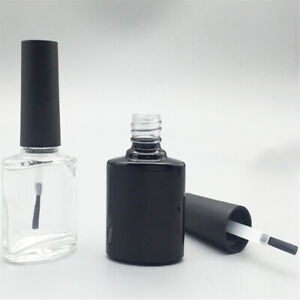 10ML PORTABLE NAIL POLISH VARNISH EMPTY BOTTLE MAKE-UP CONTAINER WITH BRUSH FADD
