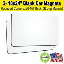 "Blank Car Magnets with Rounded Corners - 18""x24"" - 2 Pack"