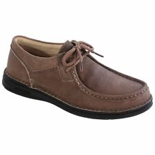 Birkenstock PASADENA Grey Brown Suede Lace Up Men's Shoes