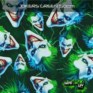 ROLLED - GREEN JOKER Hydrographics Film Hydro Dipping Transfer Graphic Print UK