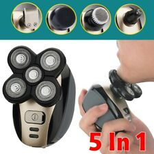 5 In 1 Men 4D Rotary Electric Shaver Rechargeable Head Shaver Beard Trimmer CY