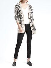 Banana Republic Women's Italian SuperLoft Leopard Print Long Cardigan XS