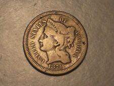 1874 Three Cent Piece (Attractive)