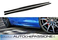 Coppia Splitter minigonne per BMW Serie 1 F20/F21 2015> abs lip lame nero lucido