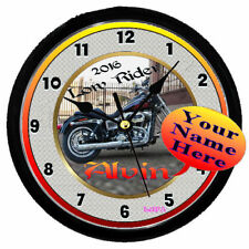 PERSONALIZED HARLEY DAVIDSON LOW RIDER WALL CLOCK