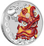 2020 Happy Chinese New Year lion dance 1oz Silver $1 Coin Spring Festival Gift