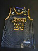 Los Angeles Lakers No.24 Kobe Bryant Nike Swingman Lore Series Black Mamba...