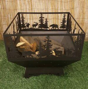 Woodland Themed Fire Pit Firepit Log Burner