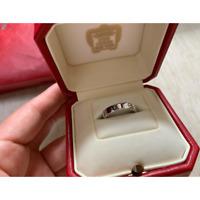 Cartiermini Love Ring 18K K18 WG White Gold 750 Size 5 US