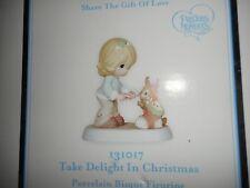 New MIB Precious Moments Take Delight in Christmas Rabbit Figurine 131017