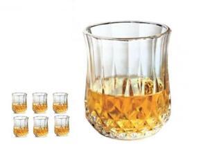 Set of 6 or 12 Premium Quality Diamond Crystal Glassware Drinking Glass Gift Set