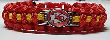 Kansas City Chiefs Red & Gold Paracord Bracelet or Lanyard or Deluxe Key Chain