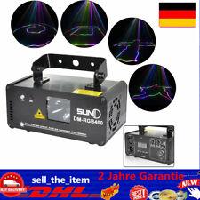 DM-RGB 400 SUNY DMX 400mW RGB Laser Effekt Beam Licht Party Lampe Fernbedienung.