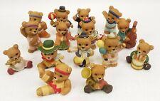 Homco Bear Figurines Porcelain Home Interiors lot of 15 Vintage