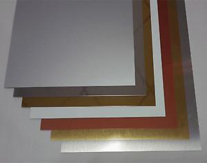 Aluminiumplatten 0,5mm in 7 verschiedenen Alu-Farbtöne, 5 Stück