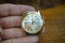 Vtg Waltham 17 Jewel Incabloc Men's Wristwatch Date & Day - Working