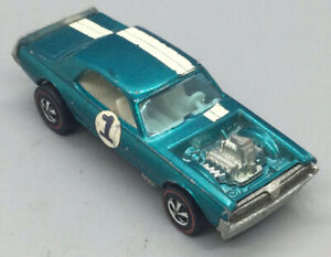Vintage 1969 Hot Wheels Redline Turquoise Nitty Gritty Kitty