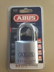 ABUS 80TI/50 Titalium Padlock W/ 2 Keys And Security Pins Locksport