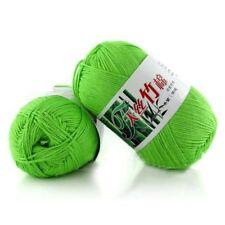 New 100% Bamboo Cotton Warm Soft Natural Knitting Bud green Wool Yarn 50g