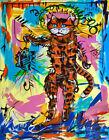 JEAN MICHEL BASQUIAT Fishing Cat (62x48cm), CANVAS, POSTER FREE P&P