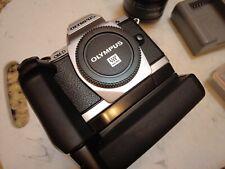 Olympus OM-D E-M5 16.1 MP Digital Camera Black with 12-50mm zoom Lens, extras!