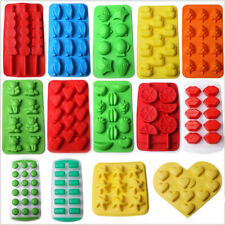 Multi-shape Ice Cube Tray Mold Maker Silicone/Plastic Chocolate Pudding Mould
