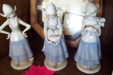 Set of 3 Collectible Crown Royals Porcelain Figurines