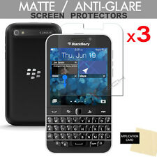 3 Pack ANTI GLARE MATTE LCD Screen Protector Guards for Blackberry Classic (Q20)