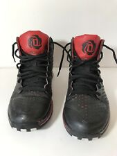 Adidas Boys Size 6 Basketball Shoes D Rose 3 J Black Red Bred G23691