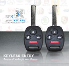 2 NEW 2003 2004 2005 2006 2007 Honda Accord Replacement Uncut key Entry Remote