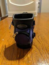Mini Golf Bag Caddy/Koozie Golf Plus Purple Holder Water Bottle Can