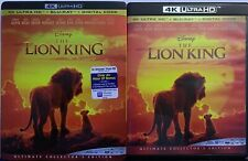 DISNEY THE LION KING LIVE ACTION 4K ULTRA HD BLU RAY 2 DISC + SLIPCOVER SLEEVE