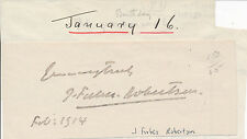 Johnston Forbes Robertson - clipped signature of the British actor (1914)